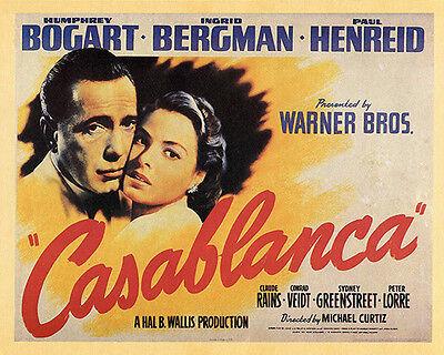 CASABLANCA CLASSIC 160784 MOVIE POSTER 50TH ANNIVERSARY 24x36