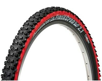 "Panaracer Fire XC Pro 26 x 2.1/"" Folding MTB Bike Tire Black//Red Tubeless Ready"