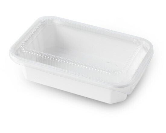 Biodegradable Natural Fiber Food Container Togo Box with Clear Lid 25ct