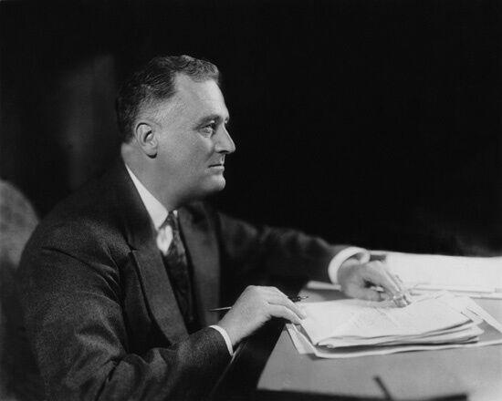 1936 Former U.S. President FRANKLIN D ROOSEVELT FDR Glossy 8x10 Photo Political