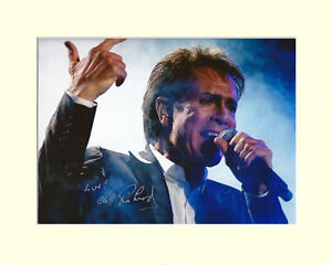 CLIFF RICHARD PP MOUNTED 8X10 SIGNED AUTOGRAPH PHOTO