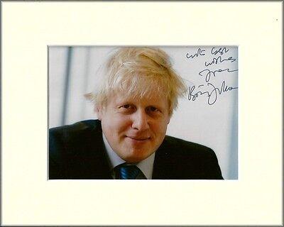 BORIS JOHNSON LONDON MAYOR CONSERVATIVE PP MOUNTED 8X10 SIGNED AUTOGRAPH PHOTO