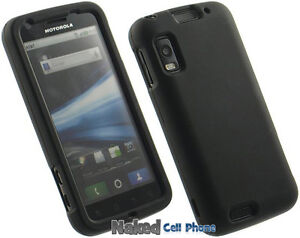 NEW BLACK RUBBERIZED HARD CASE COVER FOR MOTOROLA ATRIX 4G MB860 CELL PHONE