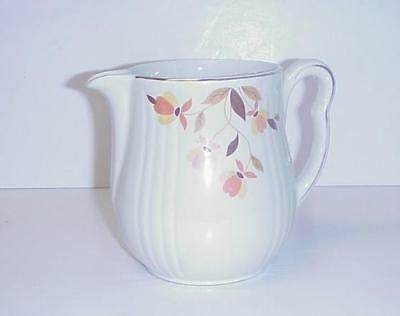 Hall's Superior Jewel Autumn Leaf Rayed Utility Jug Pitcher Original Sticker