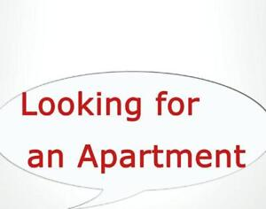 WANTED; looking for one or two bedroom apartment for myself