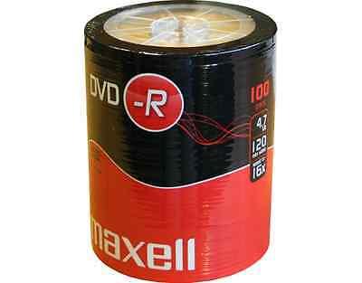 100 MAXELL DVD-R 4.7GB 16x in Folie