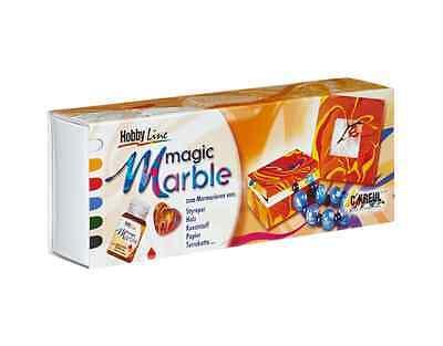 C.KREUL HobbyLine 73600 Magic Marble Set Grundfarben 6 x 20ml