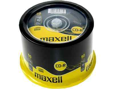 50 MAXELL CD-R Rohlinge 80min/700MB 52x in Spindel