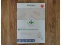 New unopened Little green sheep cot mattress protector