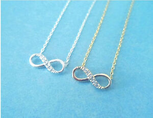 Cubic, Sparkling, Infinity, Love, Gold, Silver, Necklace