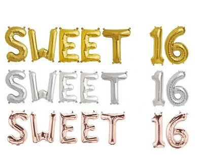 Girls-Boys Sweet Sixteen foil balloons 16 16th Birthday Celebration Party - Boy Sweet 16 Decorations