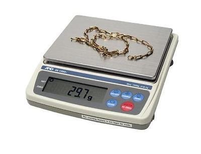 A&D Everest Compact Balance EK-1200i,Jewelry Scale 1200 X0.1g,NTEP, RS 232