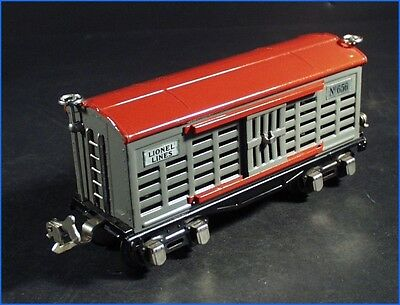 Vintage Lionel Trains Prewar Red   Gray Stock Car No  656  Original