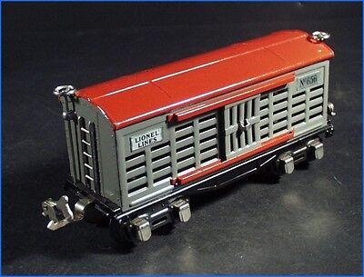 Vintage Lionel Trains Prewar Red   Gray Stock Car No  656  Original