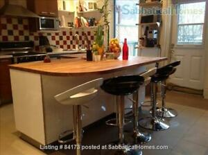 Charming family home opposite NDG park, furnished rental