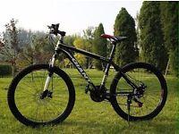 "BLACK AND GOLD ""2016"" Giant Atx Mountain bike ""NEW"" boxed 26""1.95 Medium Size Aluminum Alloy"