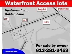 Waterfront access lots near Golden Lake