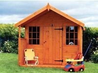 Playhouse Apex Tongue & Groove Garden Shed All Sizes From £285 Inc Delivery & Erection 0161 962 9127