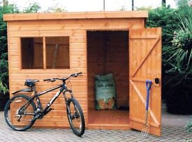 Maltby Pent Tongue & Groove Garden Shed All Sizes From £355 Inc Delivery & Erection 0161 962 9127