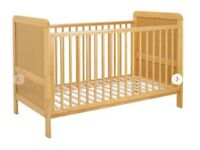 John Lewis Alex COTBED - excellent condition - WITH MATTRESS AND MATTRESS COVER - no pets or smoke