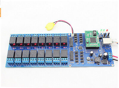 Wifi Ethernet 16 Ch Relay Module Switch Board Home Automation Snmp Web Ip Lan