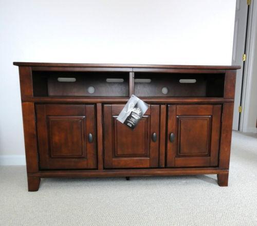 ashley tv stand ebay. Black Bedroom Furniture Sets. Home Design Ideas