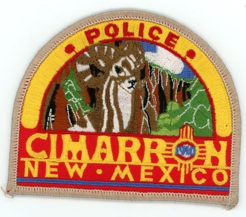 CIMARRON POLICE NEW MEXICO NM PATCH SHERIFF COLORFUL
