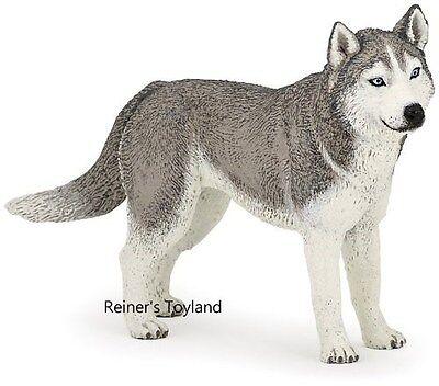 Spielfigur Hund - Papo 54035 Sibirian / Sibirischer Husky - Schlittenhund - NEU