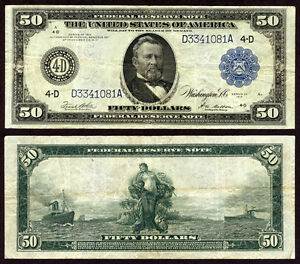 FR. 1039 A $50 1914 Federal Reserve Note Cleveland Very Fine