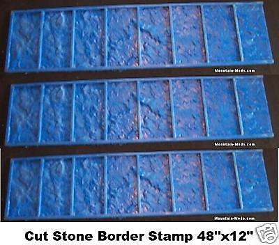 3 Granite Tile Brick Border Decorative Concrete Cement Stamps Mats 12x48