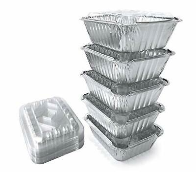 55 Pack - Small 1lb Aluminum Pans With Lidsto Go Containersdisposable Small