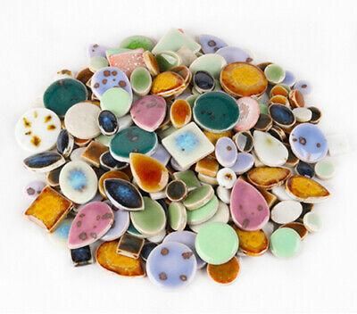 Mosaic Tiles For Crafts (Ultra-thin Ceramic Mosaic Tiles Tessera For Wall Arts DIY Hand Crafting Mix)