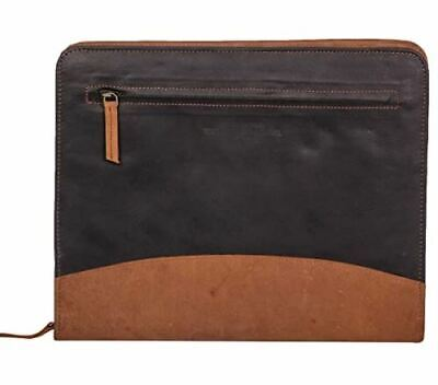 The Leather Warehouse Zipper Padfolio Portfolio Resume Folder Men Women With A