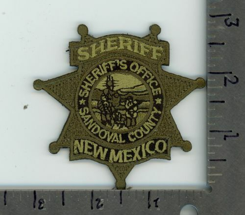 SANDOVAL COUNTY SHERIFF NEW MEXICO NM SUBDUED NEW PATCH SEE PICTURE FOR SIZE