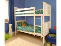 BUNK BED WHITE PINE ATLANTIS- BRAND NEW-splits into two seperate beds