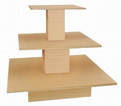 Square 3 Tier Table Maple