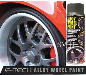grey graphite e tech car alloy wheel spray paint 400ml chip resistant. Black Bedroom Furniture Sets. Home Design Ideas