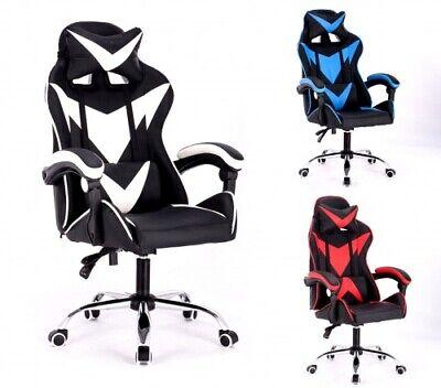 Gamingchair Gamingstuhl Bürostuhl Spielstuhl Racing Chair Chefsessel mit Kippf.