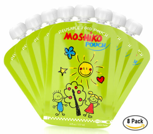Reusable Baby Toddler or Adult Food Pouch by Moshiko