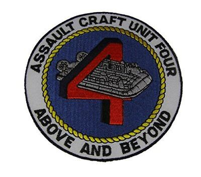 USN NAVY ASSAULT CRAFT UNIT FOUR 4 ABOVE AND BEYOND PATCH LCAC LANDING CRAFT AIR