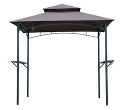 BBQ Canopy Tent Barbecue Gazebo Grill Outdoor Shelter Yard Sun Shade 8Ft 2-tier