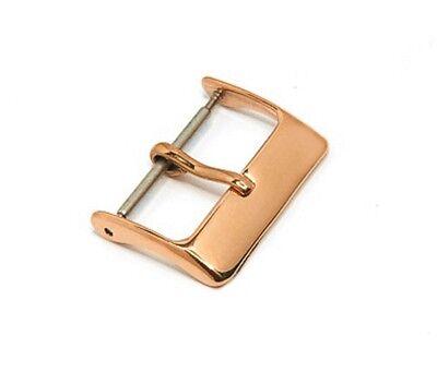 20mm Dornschließe SUPERFLACH Edelstahl ROSEGOLD vergoldet hochglanzpoliert NEU