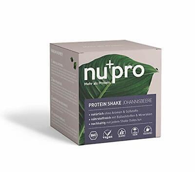 nupro Veganes Bio Protein Pulver -Johannisbeere- Ganzheitlicher Eiweiß Shake