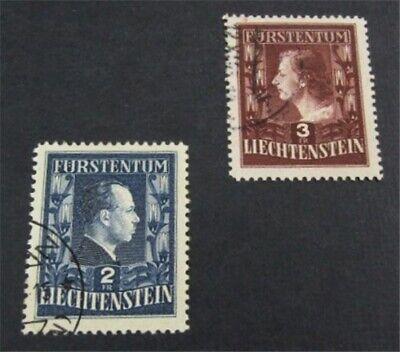 nystamps Liechtenstein Stamp # 259.260 Used $148   L23y624