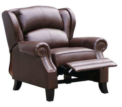 Leather Wingback Recliner Chairs Ebay