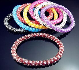 10PCS NWT Elastic Girl Rubber Hair Ties Bands Headband Rope Scrunchie
