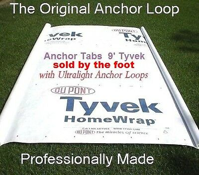 UL Hiking Backpacking Tyvek Ground Sheet Tent Footprint Camp Tarp w/Anchor loops
