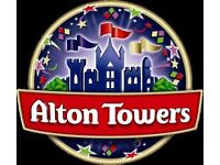 Two Alton Towers tickets for the 11th of September 2016