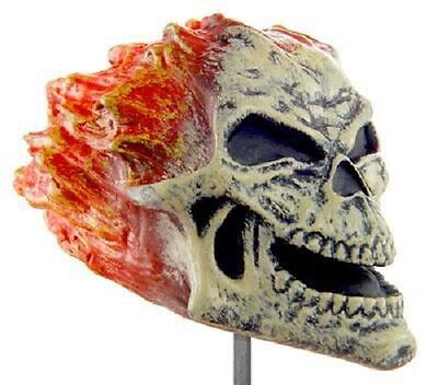 Available NOW through Halloween!  EERIE Antenna Toppers - FLAMING SKULL](Eerie Halloween Decorations)