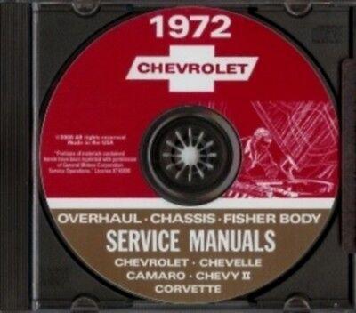 CHEVROLET 1972 Camaro, Nova, Chevelle, Malibu, El Camino Shop Manual CD - El Camino Shop Manual